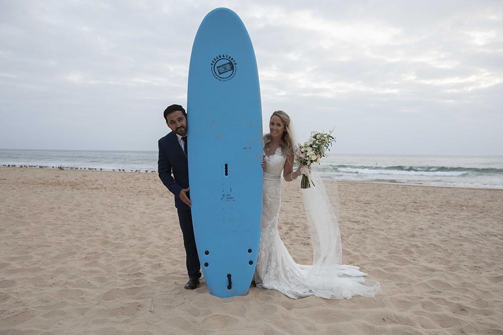 casamento na praia prancha de surf