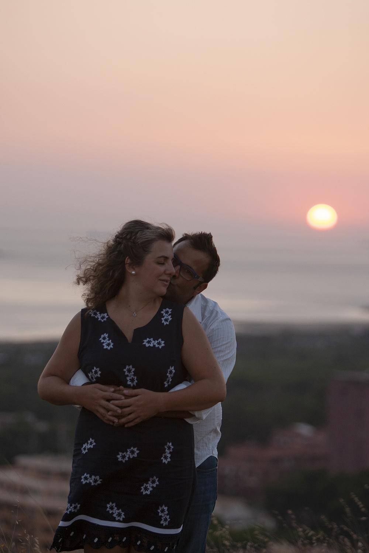 Casal em Por do  Sol