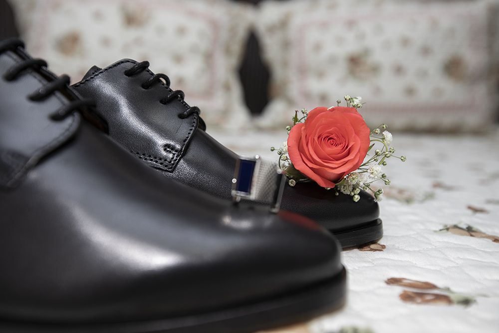 shoes and flower