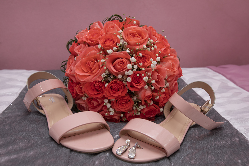 shoes and flower bride