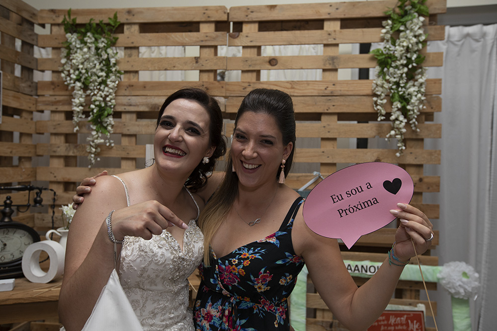 bride with friend