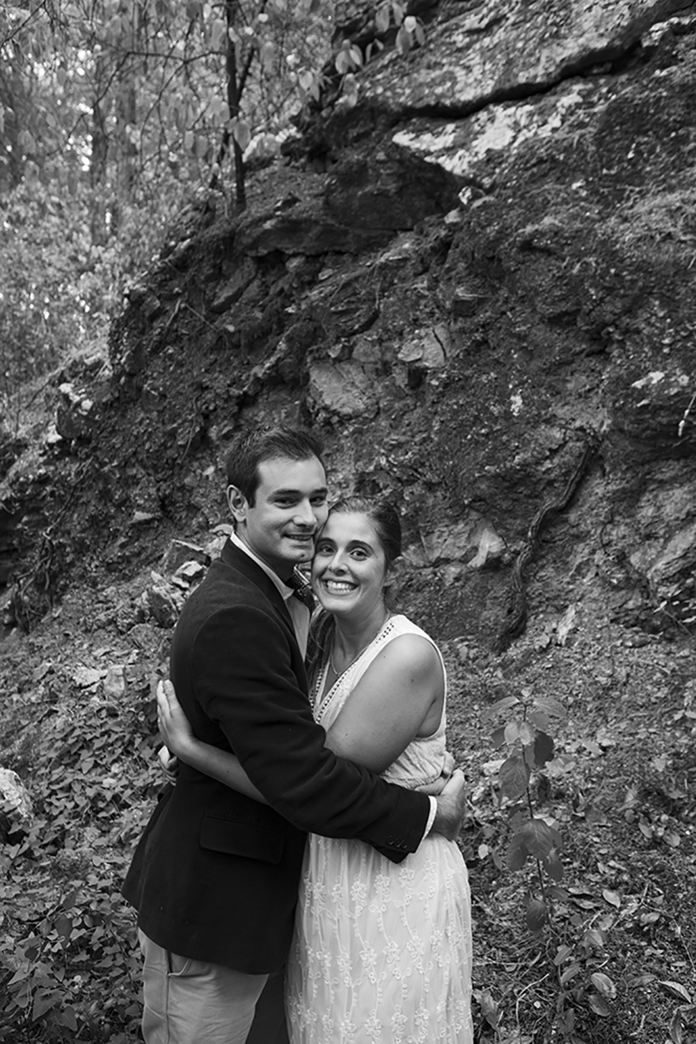 Blck and white engagement session