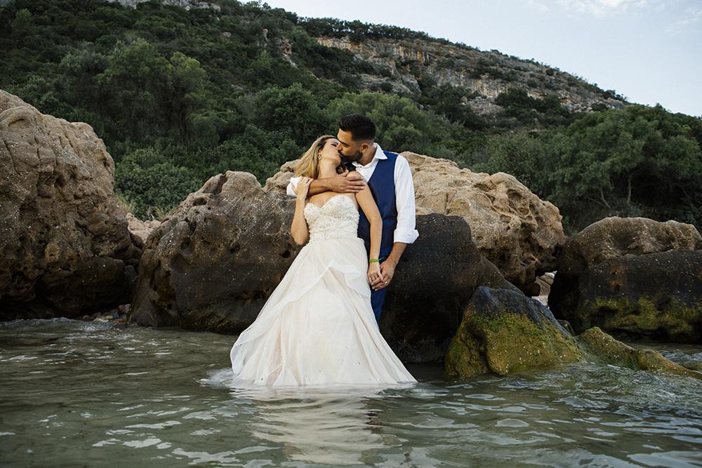 trash the dress  na Praia de Arrábida