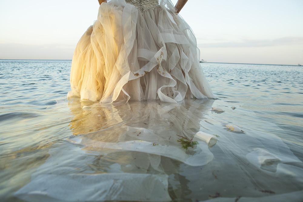 Trash the dress  na praia