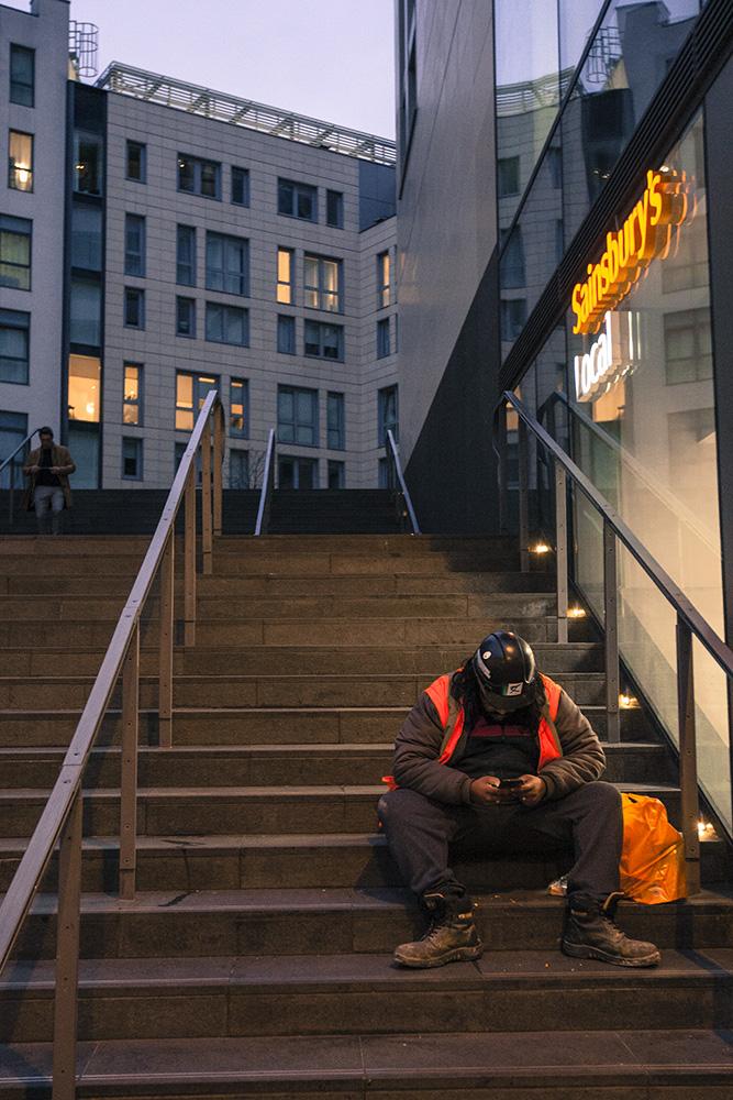worker in London