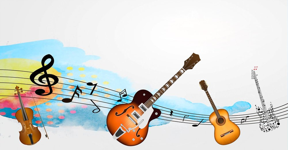 music instruments free template