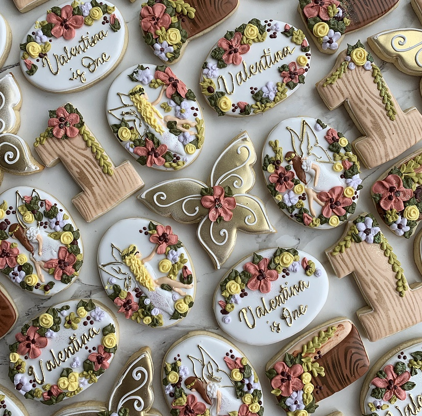 First Birthday - We made this magical set to match the cake our client showed us for inspiration