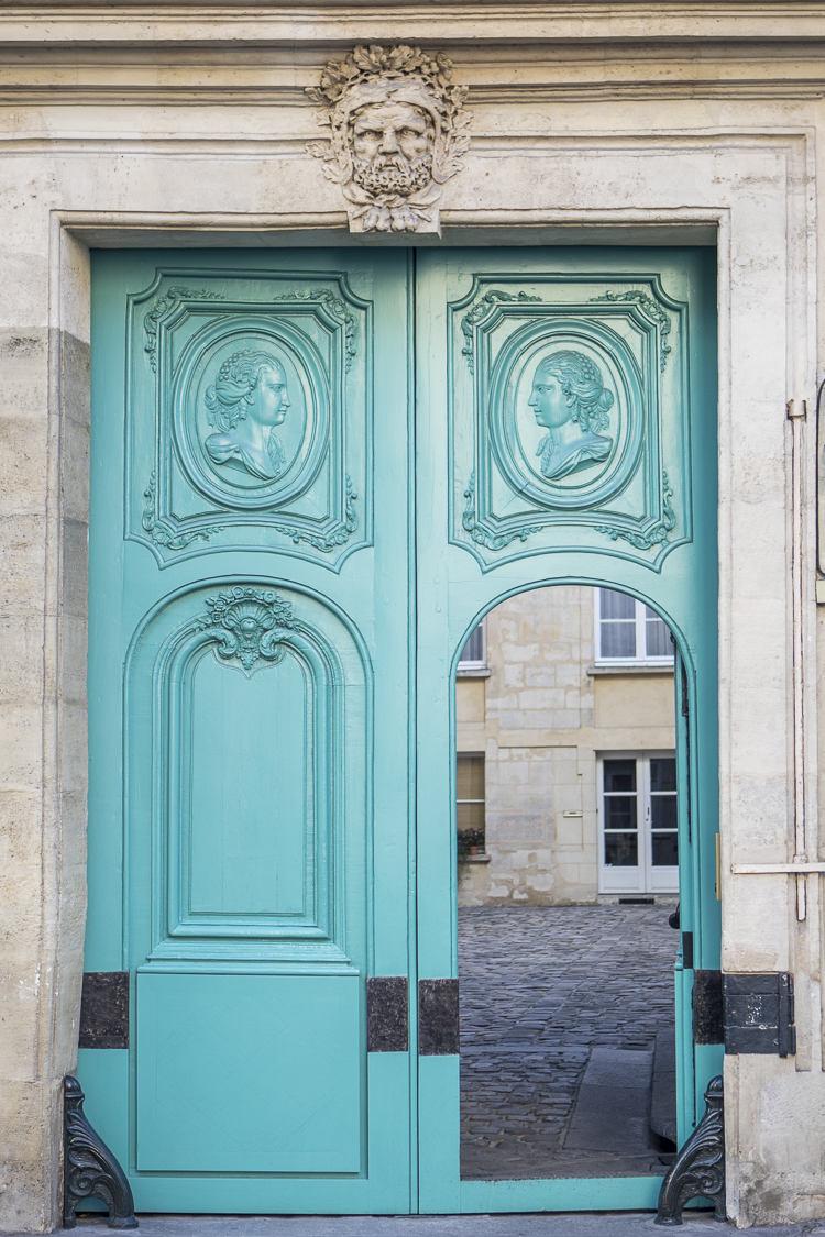 The Open Door Print & Prints of Paris doors doorways door hardware and details ...