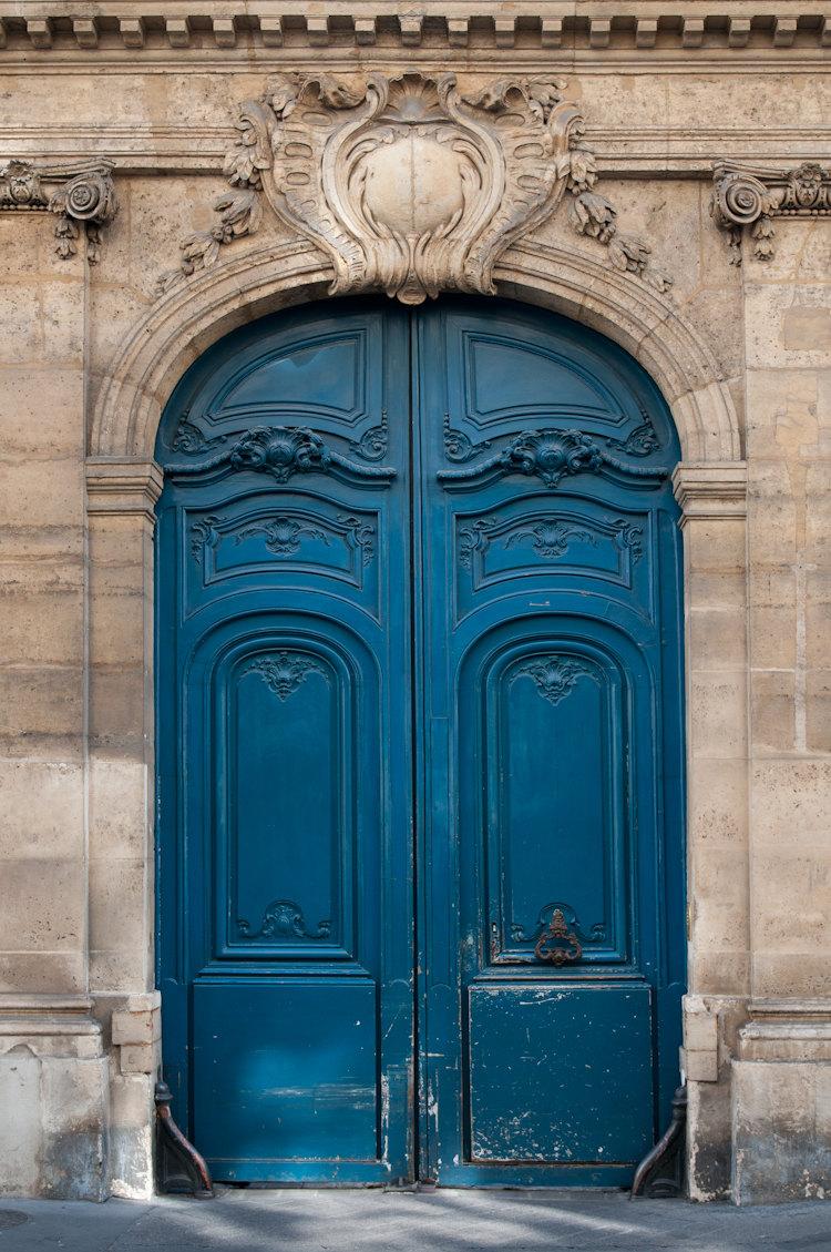 & The Blue Door Print \u2014 Parisian Moments