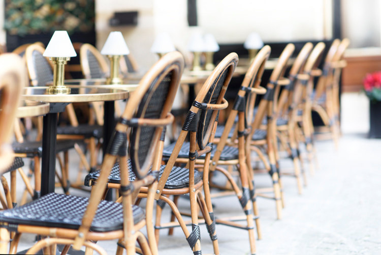 Delicieux Black Cafe Chairs, Print