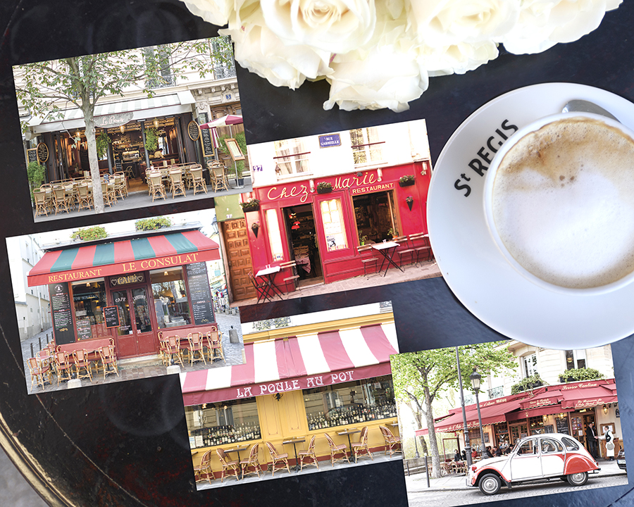 Paris Cafe Postcards Set 3