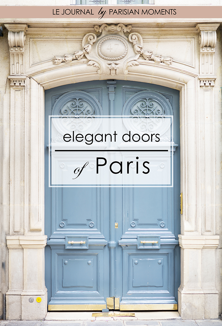 Elegant doors of Paris - blue door