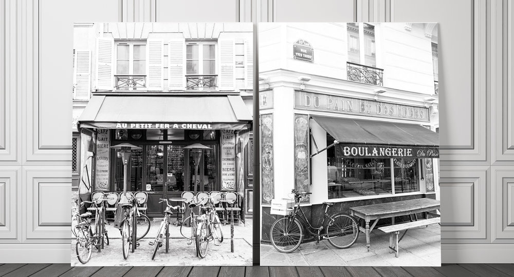 Black and White Paris Home Decor Fine Art Photography Prints