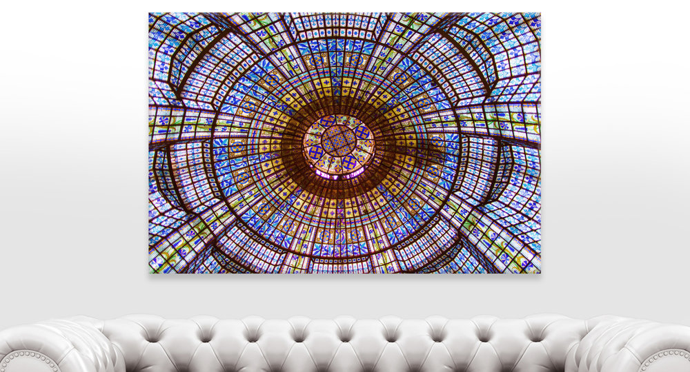 Stained Glass Ceiling Printemps, Paris Home Decor