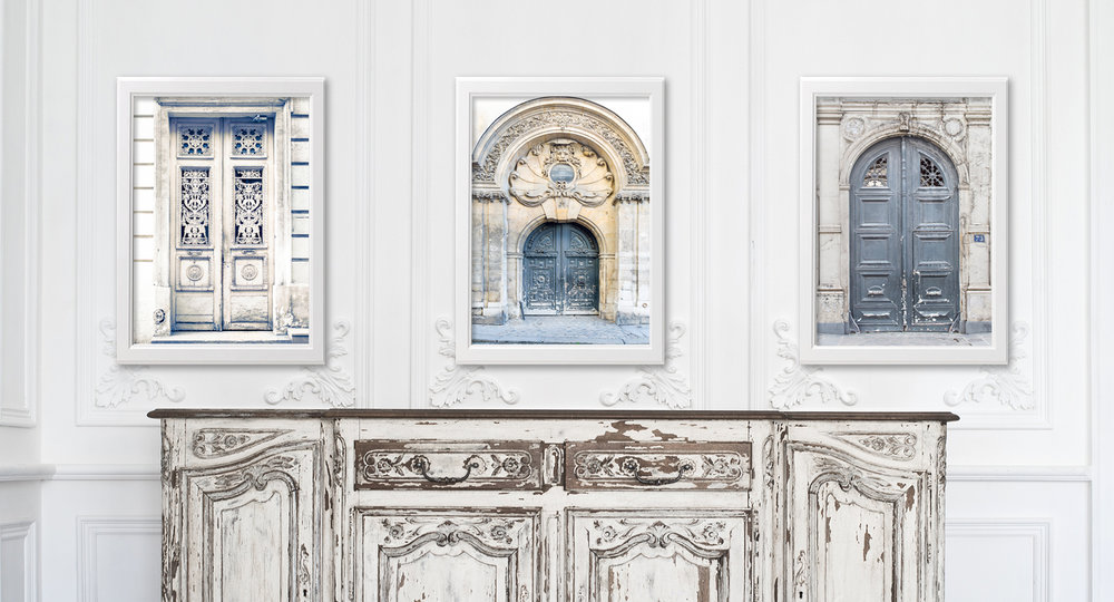 Paris Home Decor Doors Prints and Canvases
