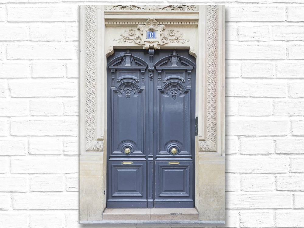 Home Decor Canvas Wall Art Grey Door No. 8