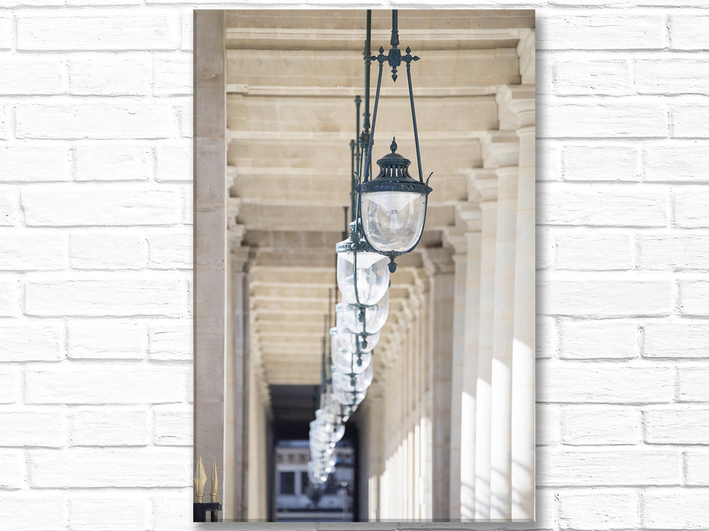 Paris France Home Decor Canvas Wall Art, Palais Royal Lights