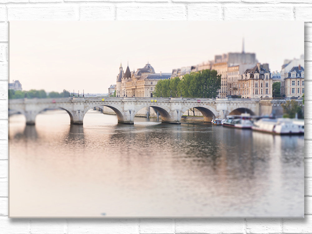 Paris France Home Decor Wall Art, Dawn, Pont Neuf
