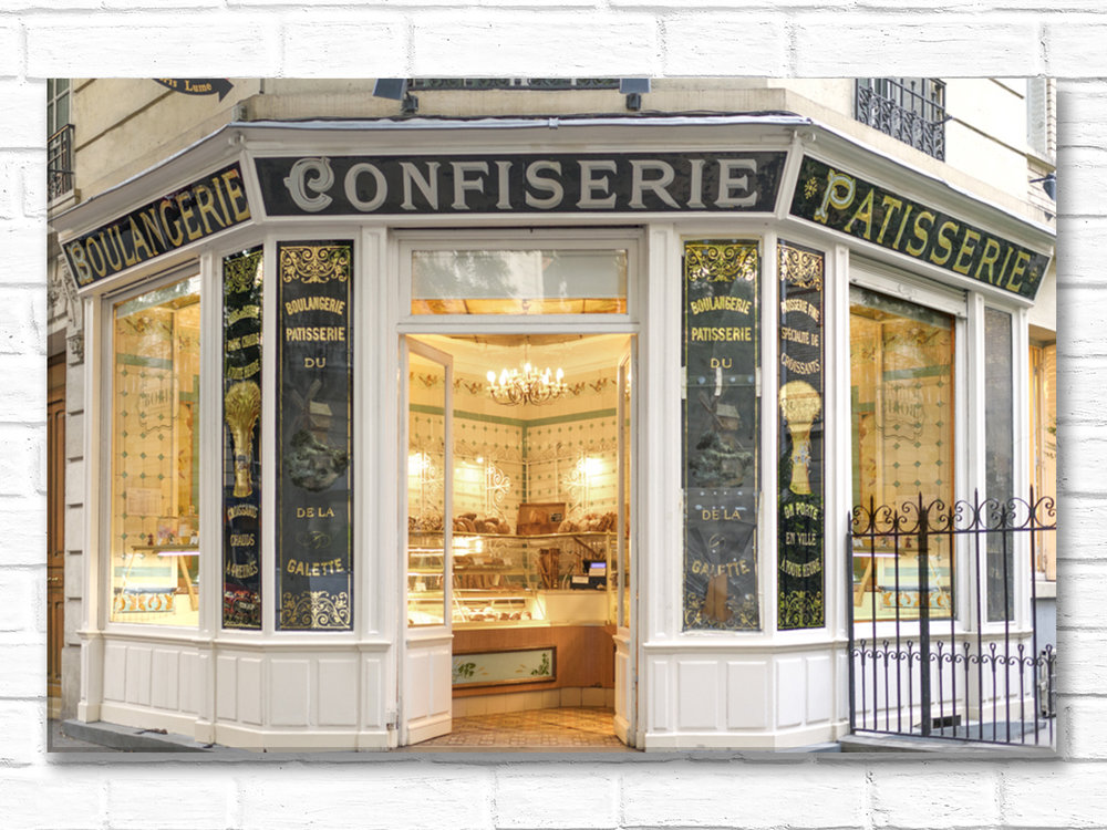 Paris France Home Decor Canvas Wall Art, Boulangerie Boris du Moulin
