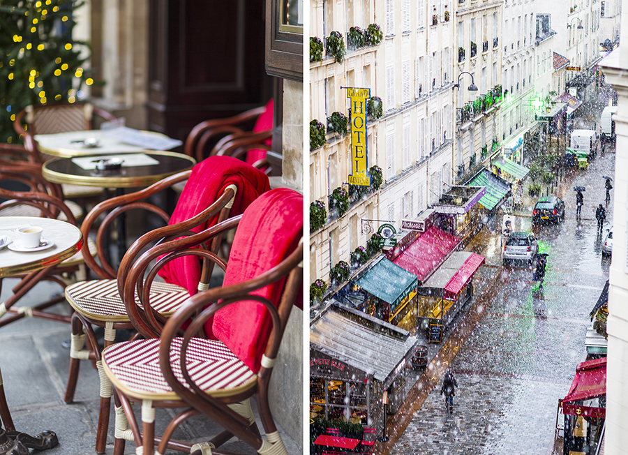Chairs and rue Cler