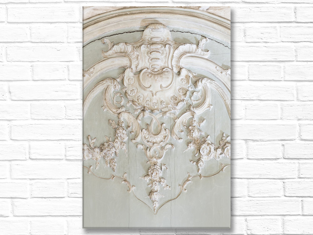 Paris France Home Decor Canvas Wall Art, Boiserie (Carved Wood) Detail, Hôtel de Soubise