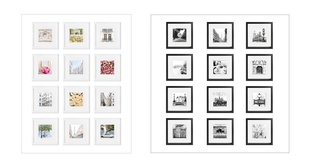 Color and BnW 5x5s Framed.jpg