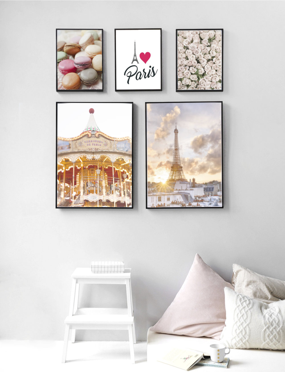 This could be the room of a teenage girl who dreams of going to Paris.