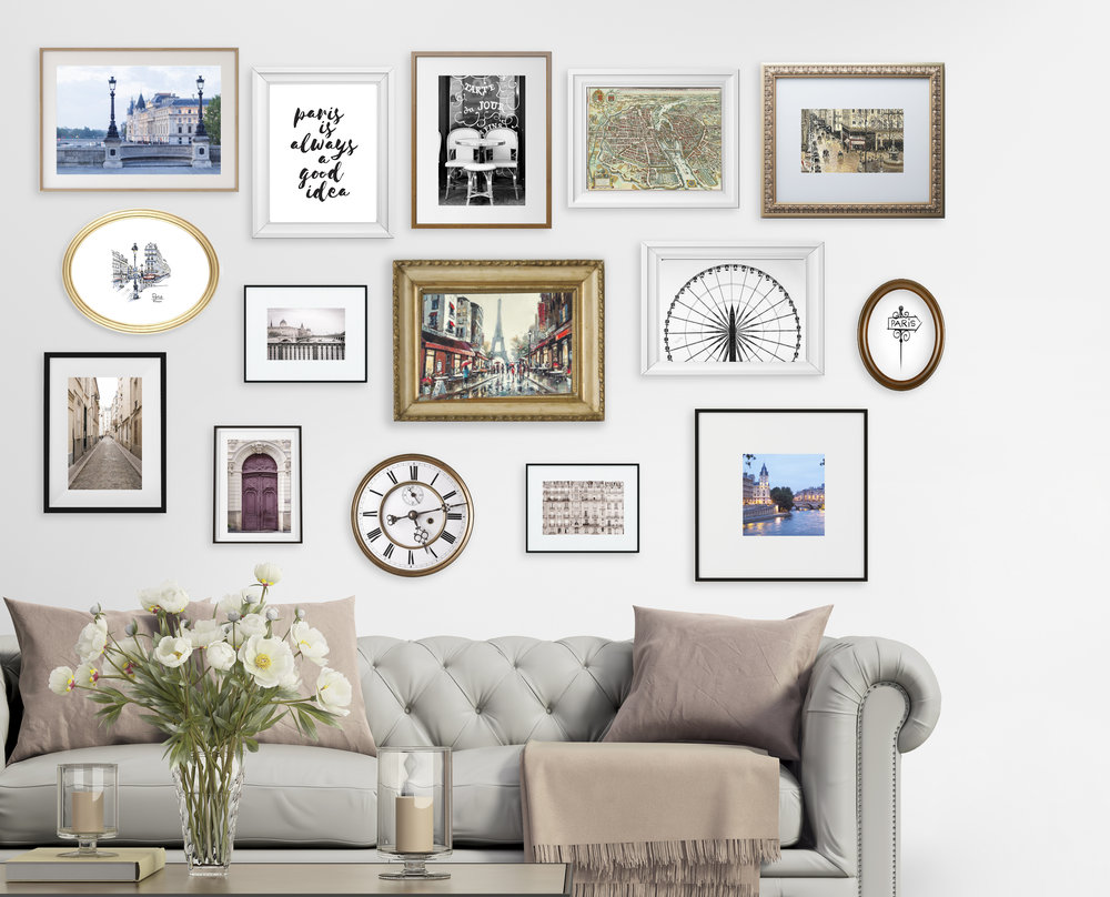 Every gallery wall is different. The pictures and other items usually have a special significance or importance for you.