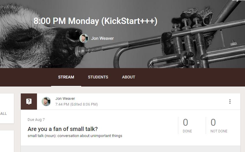 Виртуальный учебный класс - Готовьтесь к занятиям каждую неделю в нашем Google классе