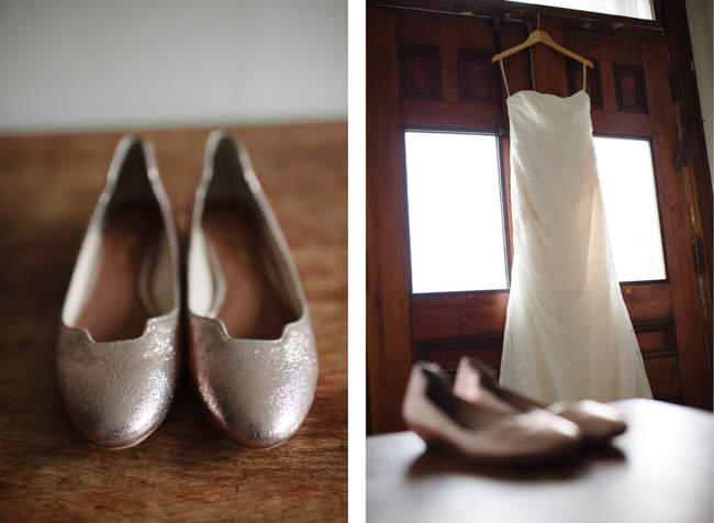 wedding dress and shoes in Hudson, NY