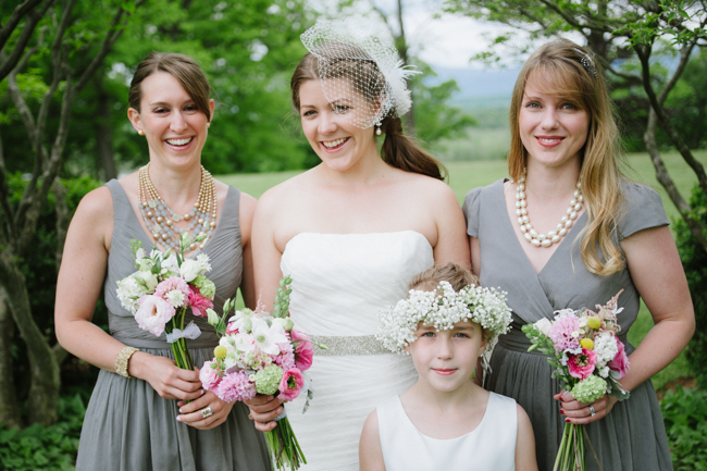 bridal party at Oak Hill in Hudson Valley