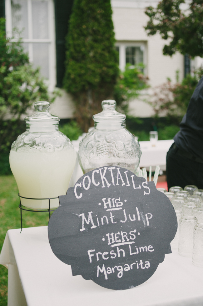 signature cocktails at Oak Hill wedding