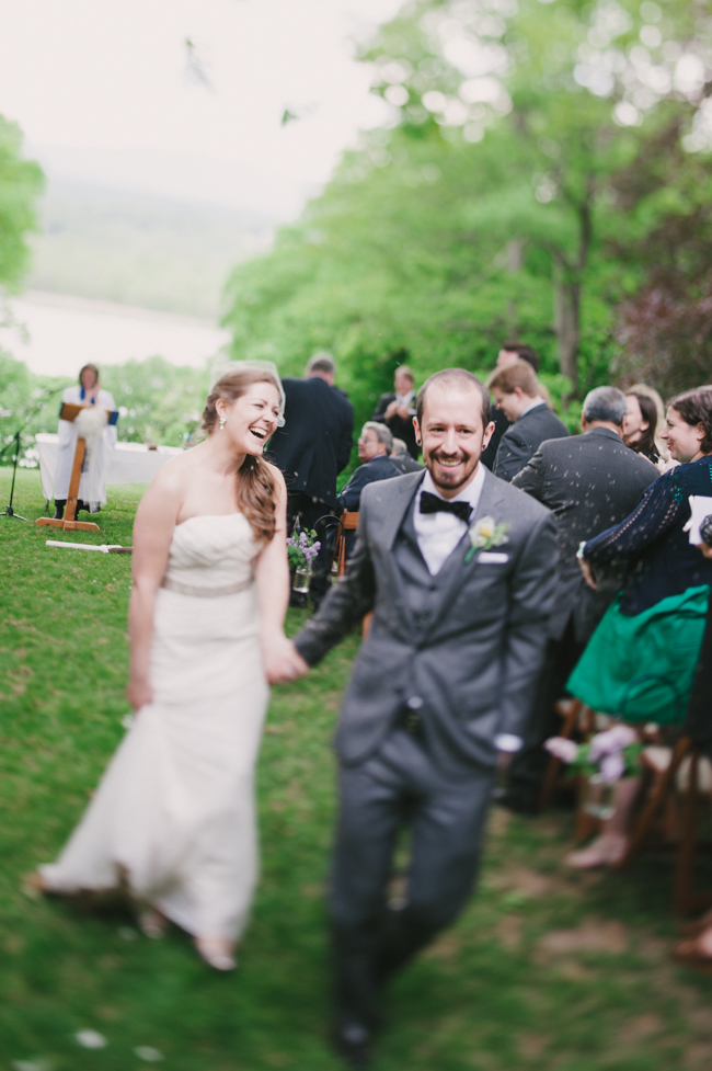 bride and groom full of joy at Oak Hill wedding