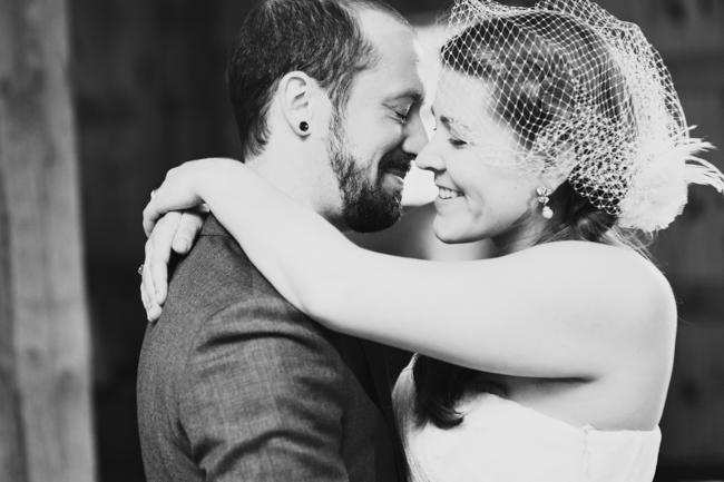 gorgeous b&w first dance