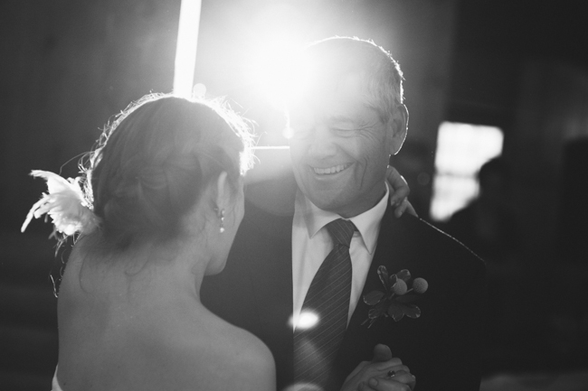 father/daughter dance at Oak Hill reception