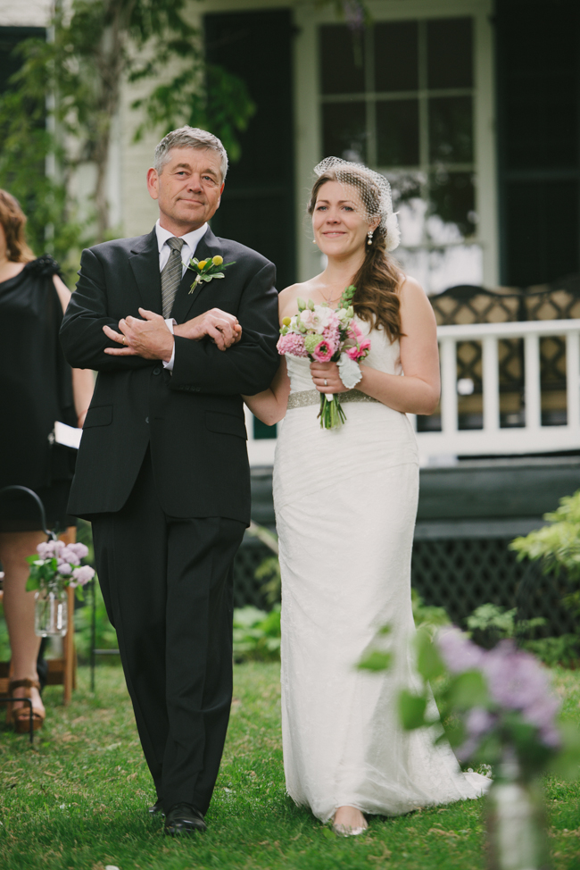 father and bride at Oak Hill wedding