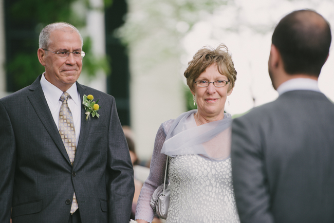 proud parents at Oak Hill wedding