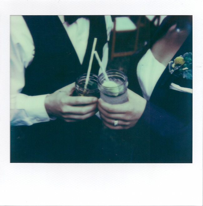 Polaroid of signature cocktails