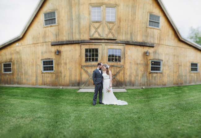 brenizer method panorama of bride and groom at Oak Hill