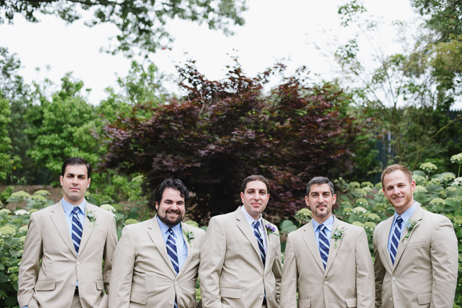 Groomsmen holding it down.