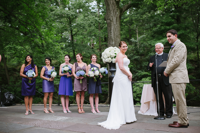 ceremony at Stone Mill, NY Botanical Gardens