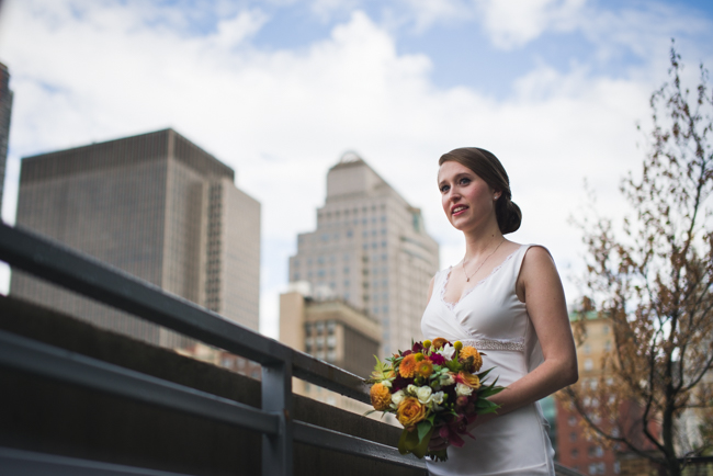 bridal portrait nyc skyline