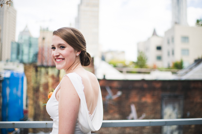 bridal portrait nyc rooftop