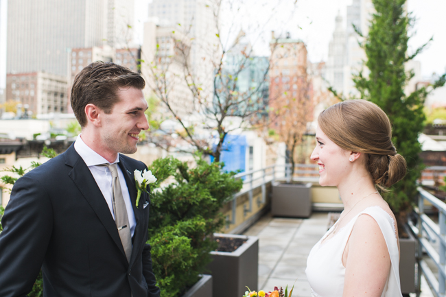 nyc first look wedding