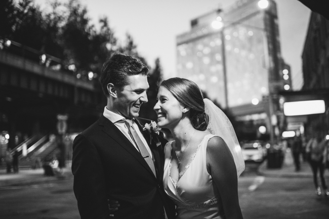 west village wedding b&w