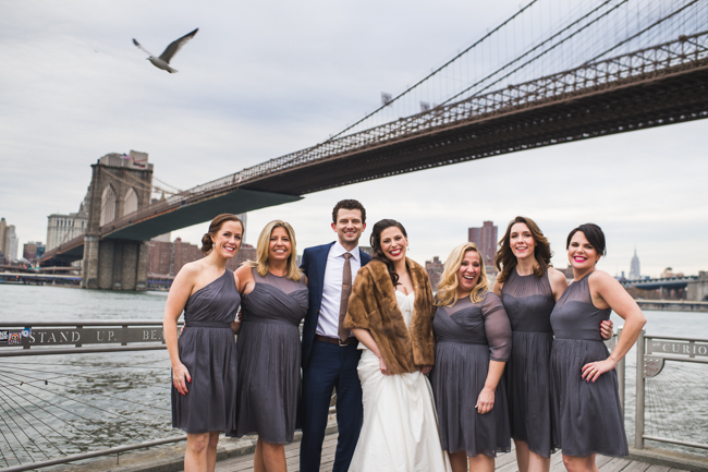 brooklyn bridge wedding party