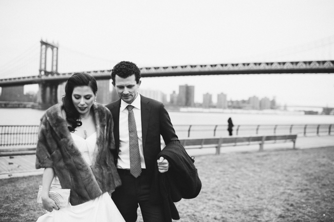 cool wedding couple