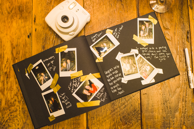 Polaroid wedding details