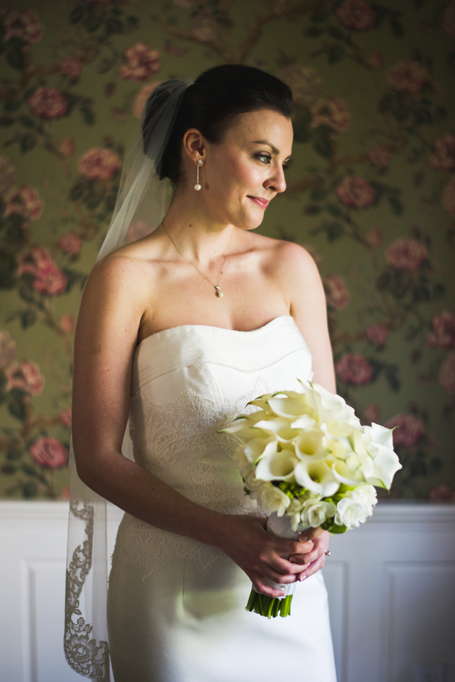 bride portrait, window light, family home