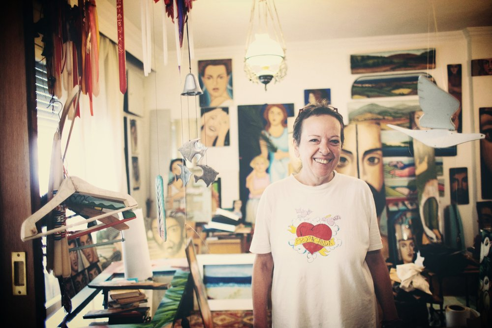 Domna Delliou at her studio in Thessaloniki.  Photo Credits:  Aris Akritidis